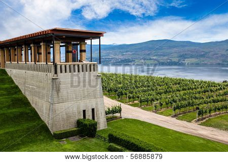Winery Terrace Overlooking Lake Okanagan in Kelowna, B.C.
