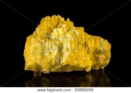Sulfur In Front Of Black