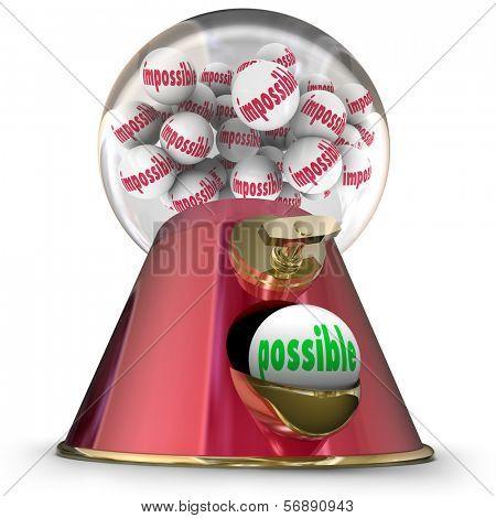 Possible Gum Ball Machine Dispenser Vs Impossible Task Job