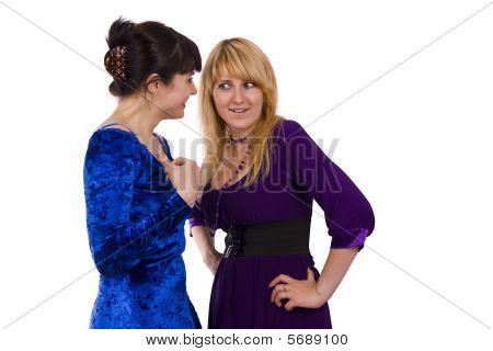 Two Gossiping Girls