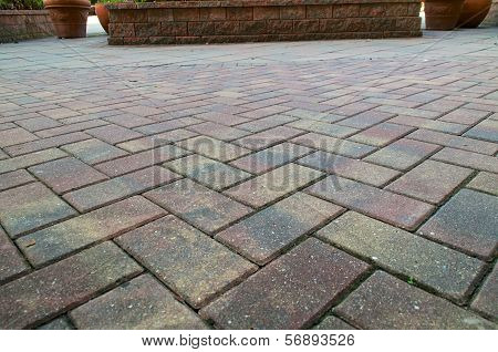 Low Angle Brick Sidewalk