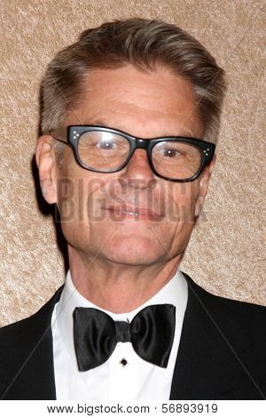 vLOS ANGELES - JAN 12:  Harry Hamlin at the HBO 2014 Golden Globe Party  at Beverly Hilton Hotel on January 12, 2014 in Beverly Hills, CA