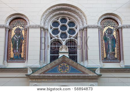 Greek Catholic Church of Saints Cyril and Methodius in Zagreb, Croatia was built in 1880 in neo-Byzantine style, based on the design of the architect Hermann Bolle.