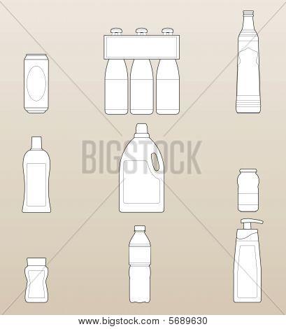 Bottles Outline Package