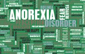 stock photo of anorexia  - Anorexia Nervosa as a Medical Diagnosis Concept  - JPG