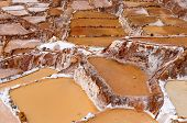 picture of salt mines  - Peru Salinas de Maras Pre Inca traditional salt mine  - JPG