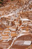 picture of salt mine  - Peru Salinas de Maras Pre Inca traditional salt mine  - JPG