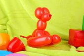 picture of parti poodle  - Simple balloon animal dog - JPG