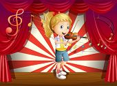 foto of woman g-string  - Illustration of a stage with a young performer - JPG