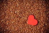 foto of flaxseeds  - diet healthcare concept - JPG