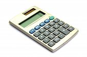 stock photo of subtraction  - Electronic calculator isolated on the white background - JPG