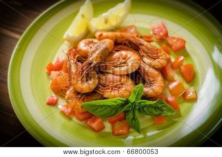 Red shrimps