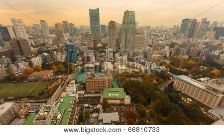 View from Tokyo Tower in Tokyo Japan