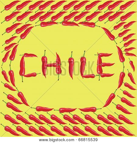Red chili peppers - Illustration