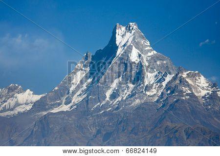 Beautiful View Of Annapurna Range, Himalayan Mountains, Nepal