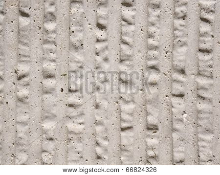 Ecru Porosity Cement Slab With Vertical Lines