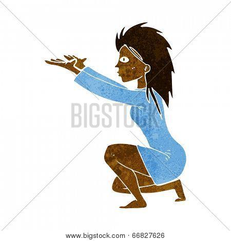 cartoon woman casting spell