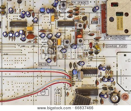 electronic circuitry closeup