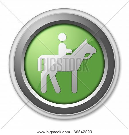 Icon, Button, Pictogram Horse Trail
