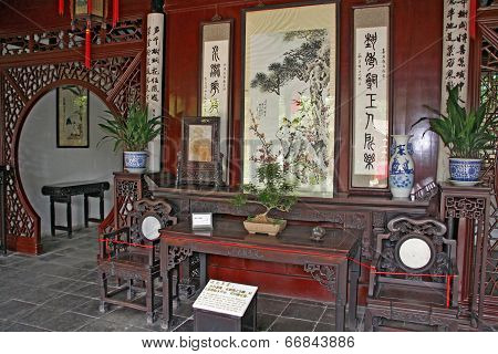 Traditional Chinese Room Interior, Suzhou
