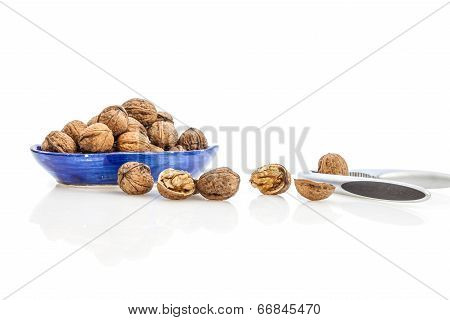 Walnuts and nutcracker