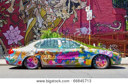 Funky Car In Kensington Market