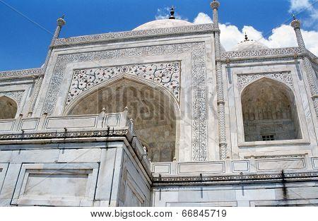 Photo Of Ornamental Walls Of Taj Mahal, India