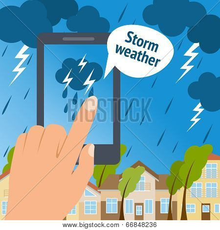 Weather smart phone storm