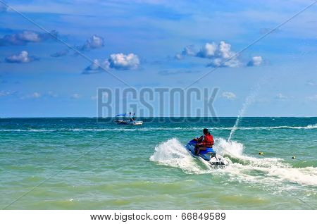 Jetski on the sea