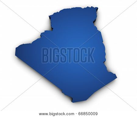 Map Of Algeria 3D Shape