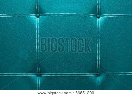 Background Of Emerald Color Leather Sofa