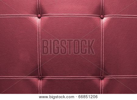 Background Of Mahogany Red Leather Sofa