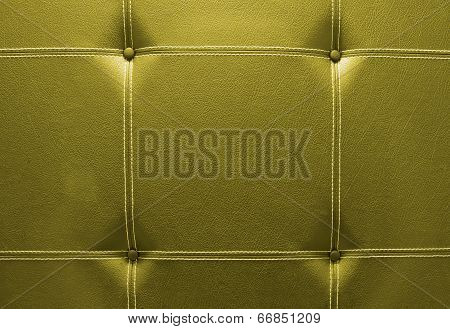 Background Of Yellow Leather Sofa