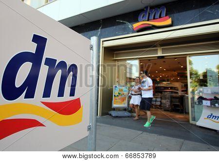 BERLIN, GERMANY - JUNE 11, 2014: A dm-drogerie markt store in  Berlin, Germany, on Saturday, June 11, 2014