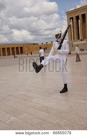 Sailor In White At The Changing Of The Guard