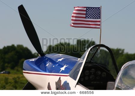 Plane with flag