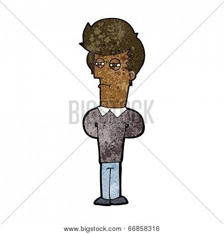 cartoon jaded man