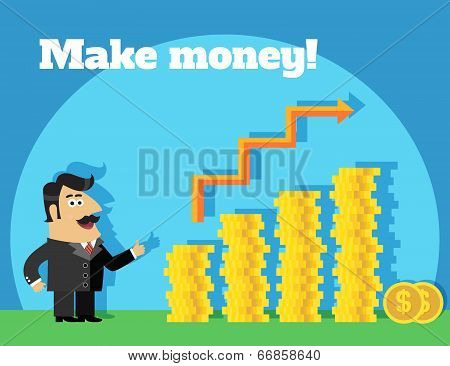 Business life make money concept
