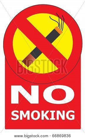 No Smoking Cigarette Area Sign For Public Health Vector