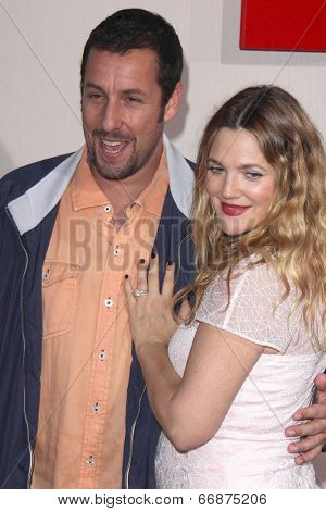 LOS ANGELES - MAY 21:  Adam Sandler, Drew Barrymore at the