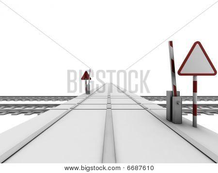 Opened Railway Crossroad