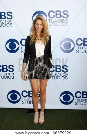 LOS ANGELES - MAY 19:  Yael Grobglas at the CBS Summer Soiree at the London Hotel on May 19, 2014 in West Hollywood, CA