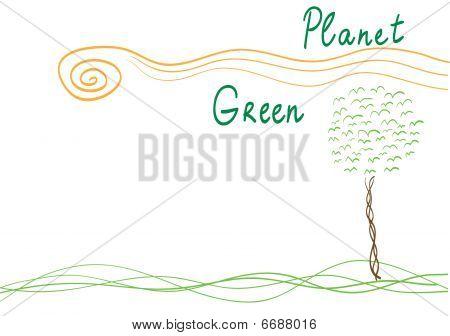 Vector go green poster