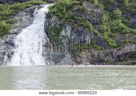 Nugget Falls at Mendenhall Glacier Juneau Alaska