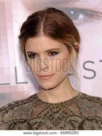 LOS ANGELES - APR 10:  Kate Mara arrives to the 'Transcendence' Los Angeles Premiere  on April 10, 2014 in Westwood, CA