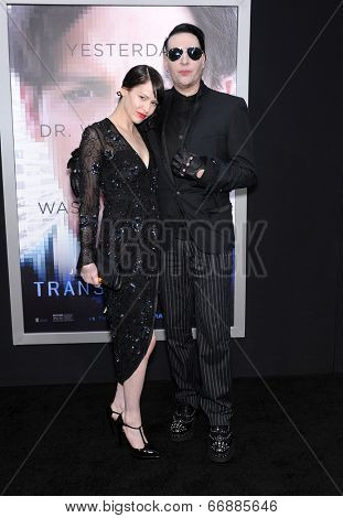 LOS ANGELES - APR 10:  Marilyn Manson arrives to the 'Transcendence' Los Angeles Premiere  on April 10, 2014 in Westwood, CA