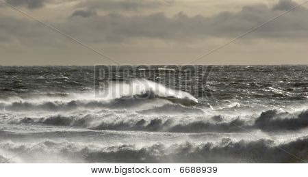 Stormy Weather And Rough Sea
