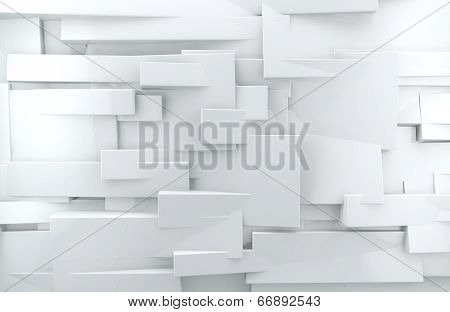 White abstract wall