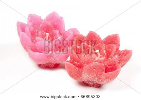 Red And Pink Decorative Unlit Wax Candles