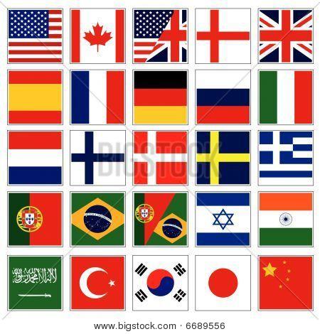 web language icon set